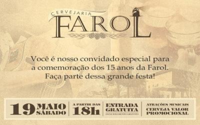 Cervejaria Farol completa 15 anos neste mês